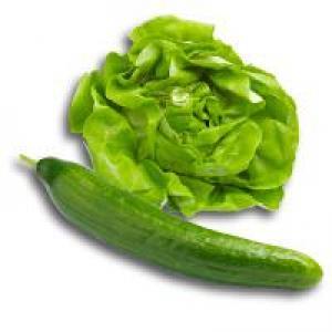 Kropsla met komkommer